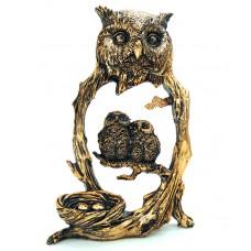 Статуэтка декоративная Совы в гнезде