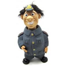 Фигурка релаксатор обожженая глина ручная работа серия Персонажи Полицейский, BK_POLICE