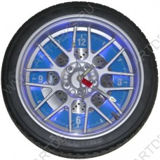 Часы колесо на стену Колесо 35см с подсветкой, BY608H3