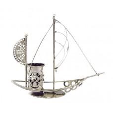 Подставка декоративная из металла Галеон, C11638