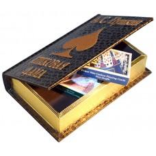 Шкатулка в виде книги Пушкин Пиковая дама с 2 колодами карт, DAMPIK_2