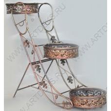 Подставка для зонтов из ротанга в металле, HD38826
