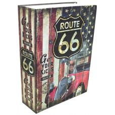 Книжка-сейф ROUTE 66 / ШОССЕ 66, высота 24см, KS_ROUTE6624