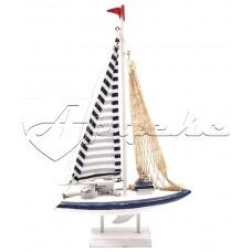 Декоративная модель яхты высота 42см